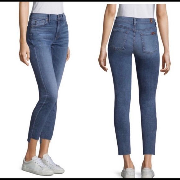 7 For All Mankind Denim - 7 FAM High Rise Ankle Gwenevere Jeans Step Hem